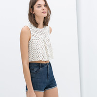 CHROCHET CROP TOP
