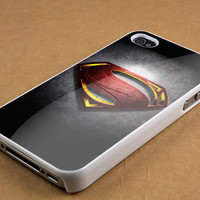 logo superman man of steel case for iPhone 4/4s, iPhone 5/5S/5C, Samsung S3 i9300, Samsung S4 i9500