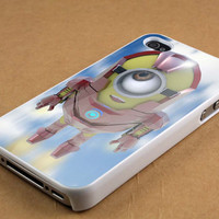 Iron man me minion case for iPhone 4/4s, iPhone 5/5S/5C, Samsung S3 i9300, Samsung S4 i9500