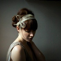 The Celia Tulle Headband and Bow by alexandragrecco on Etsy
