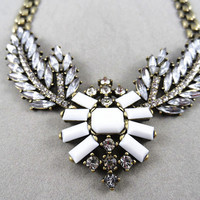 2013 Angel wings Necklace , Crystals Statement Necklace,bridesmaid gifts, bib necklace,birthday gift,2 colors available