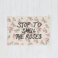 Plum & Bow Smell Roses Rug - Urban Outfitters