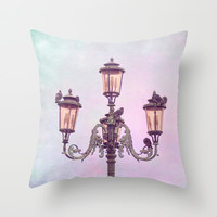 MAGICAL VENICE | Pink Lanterns Throw Pillow by 📷 VIAINA