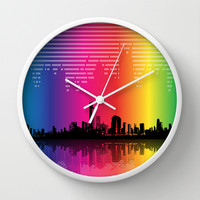 Urban Rhythm Wall Clock by Texnotropio