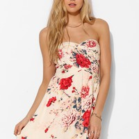 Kimchi Blue Floral Strapless Dress - Urban Outfitters