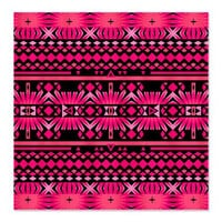 Pink Tribal Shower Curtain - Mix #559 - Ornaart Design
