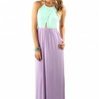 Fingers Crossed Colorblock Maxi
