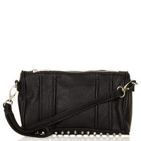 STUDDED ZIP TOP CROSSBODY BAG