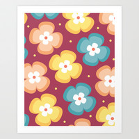 Floral Pattern 4 Art Print by mollykd