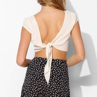 Pins And Needles Tie-Back Cap-Sleeve Blouse - Urban Outfitters
