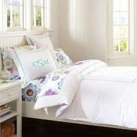 Pop Dot Duvet Cover + Sham, Pool