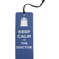 Doctor Who Keep Calm Bookmark