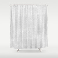Herringbone DIY Shower Curtain by Project M