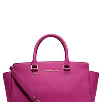 MICHAEL Michael Kors 'Selma - Large' Leather Satchel | Nordstrom