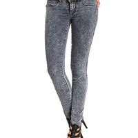 Low Rise Acid Wash Skinny Jeans