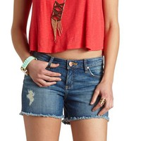 "Refuge ""Boyfriend Cutoff"" Distressed Denim Shorts"