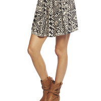 Triangle Tribal Skater Skirt | Wet Seal