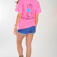 Southern Grace Boot Shirt: Neon Pink
