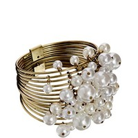 Designsix Faux Pearl Drop Bangle