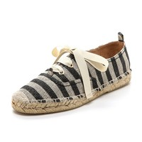 Lina Lace Up Striped Espadrilles