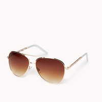 F6522 Sleek Aviator Sunglasses