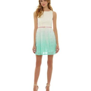 Jodi Kristopher Ombre Lace Dress | Dillards.com