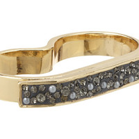 Jessica Simpson Modern Romance Double Finger Ring