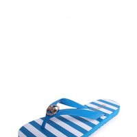 Michael Kors Printed Flip Flop in Summer Blue