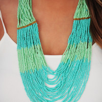 Hard To Get Necklace: Mint