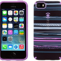 Speck Products CandyShell Inked Case for iPhone 5/5s - Paint Stripes Black/Revolution Purple