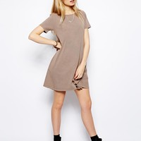 ASOS Swing T-Shirt Dress In Acid Wash