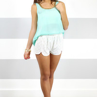 Golden Goddess Top - Mint