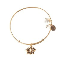 Lotus Blossom Charm Bangle