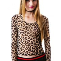 Wild Beast Long Sleeve Crop Top