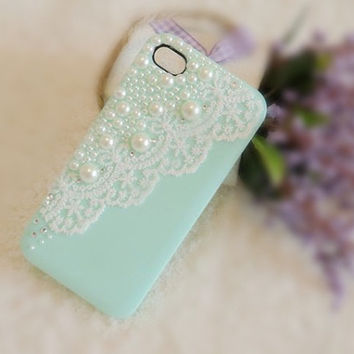 iPhone 4 case Bridal Veil (Green Tea)