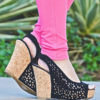 Key West Wedges - Black