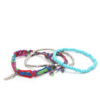 With Love From CA Purple Friendship Bracelet at PacSun.com