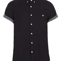 BLACK STARS CONTRAST SHORT SLEEVE SHIRT - New This Week - New In - TOPMAN USA