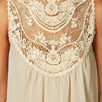 Ivory Sleeveless Crochet Top