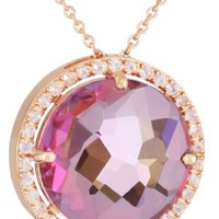 Kalan by Suzanne Kalan Round Pink Topaz Necklace