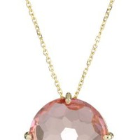 Kalan by Suzanne Kalan Round Salmon Topaz Necklace