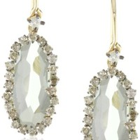 Kalan by Suzanne Kalan Green Amethyst Wire Drop Earrings