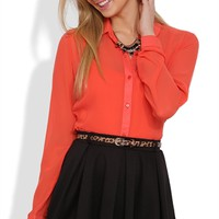 Knit Pleated Skater Skirt with Leopard Print Belt