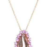 Kalan by Suzanne Kalan Salmon Topaz Pear Shape Necklace