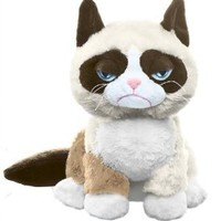 "Ganz Grumpy Sitting Cat 8"" Plush"