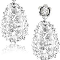 "Suzanne Kalan ""Vitrine Startburst"" White Topaz Earrings"