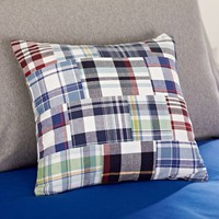 Mariner Madras Pillow Cover
