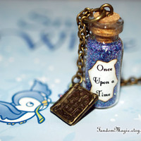 Once Upon a Time Magical Necklace with a Storybook Charm, ABC Television Show, Storybrooke, by Fandom Magic