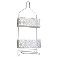 Lace Shower Caddy, White