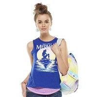 "Modern Lux ""The Little Mermaid"" Burnout Sleeveless Tee - Juniors"